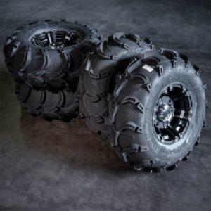Polaris mönkijän rengassarja 12″ alumiinivanteilla ITP Mud Lite