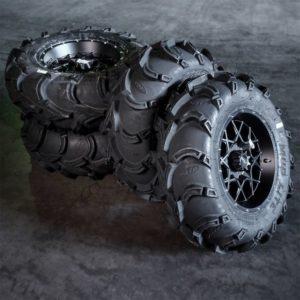 Polaris mönkijän rengassarja 14″ alumiinivanteilla ITP Mud Lite