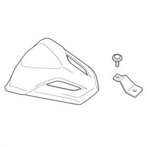 """Honda """"ankanpyrstö"""" Rear Seat Cowl – musta – 08F74-MGM-830"""