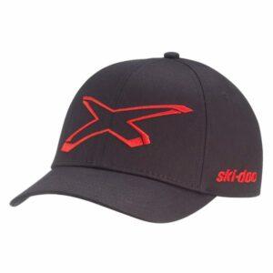Ski-Doo Flex Fit X-Team Cap, musta (2022)